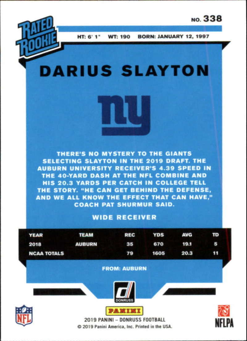 2019-Donruss-Panini-NFL-Football-Cards-Pick-From-List-201-350-With-Rookies thumbnail 244