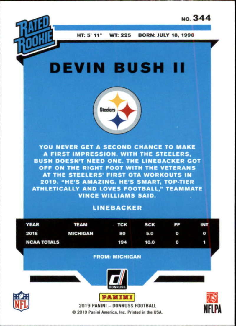 2019-Donruss-Panini-NFL-Football-Cards-Pick-From-List-201-350-With-Rookies thumbnail 256