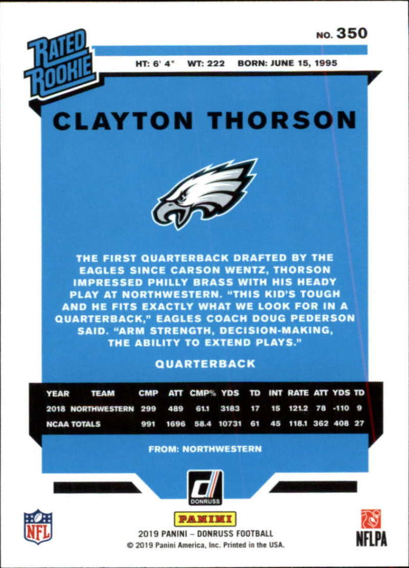 2019-Donruss-Panini-NFL-Football-Cards-Pick-From-List-201-350-With-Rookies thumbnail 268