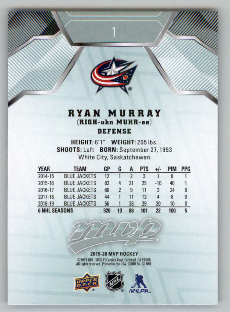 miniature 3 - 2019-20-Upper-Deck-MVP-NHL-Hockey-Cards-Pick-From-List-Base-SP-and-Rookies