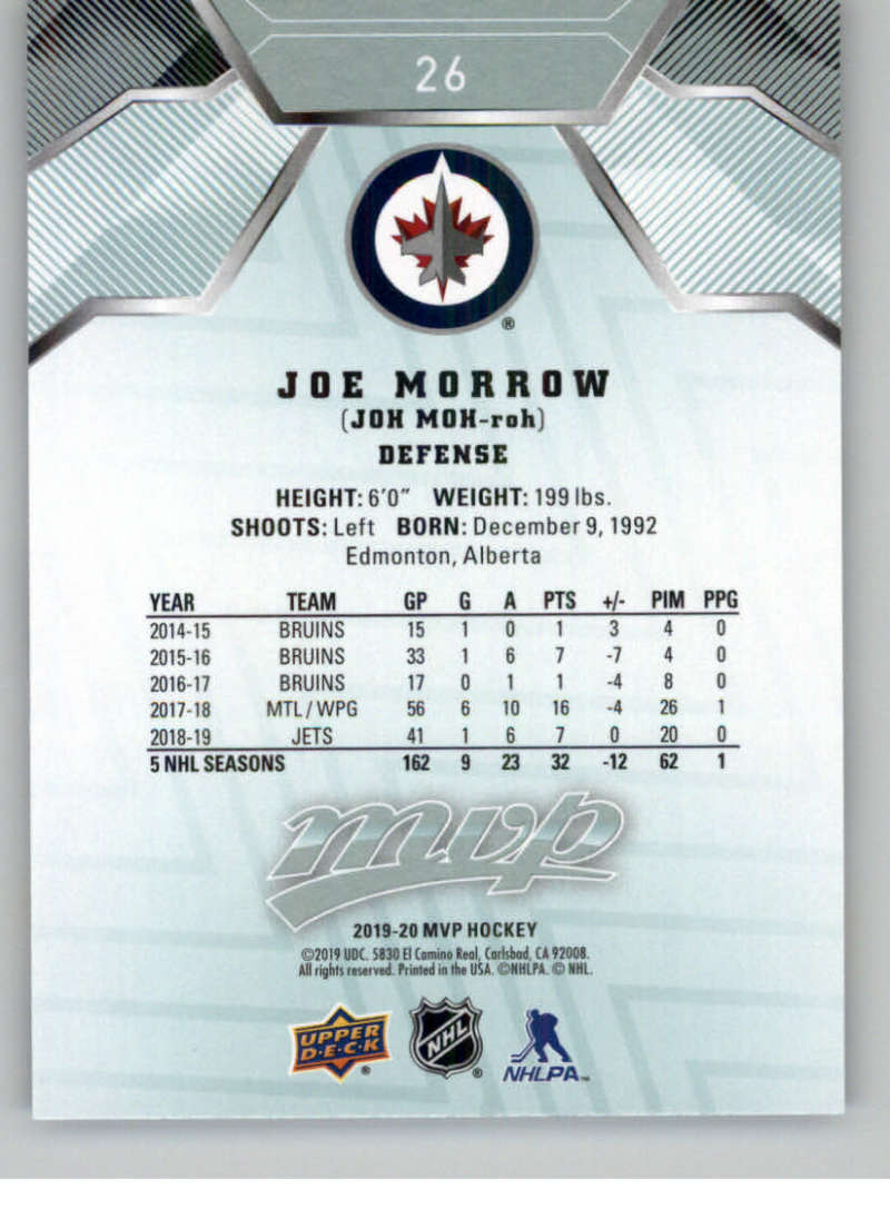 miniature 41 - 2019-20-Upper-Deck-MVP-NHL-Hockey-Cards-Pick-From-List-Base-SP-and-Rookies