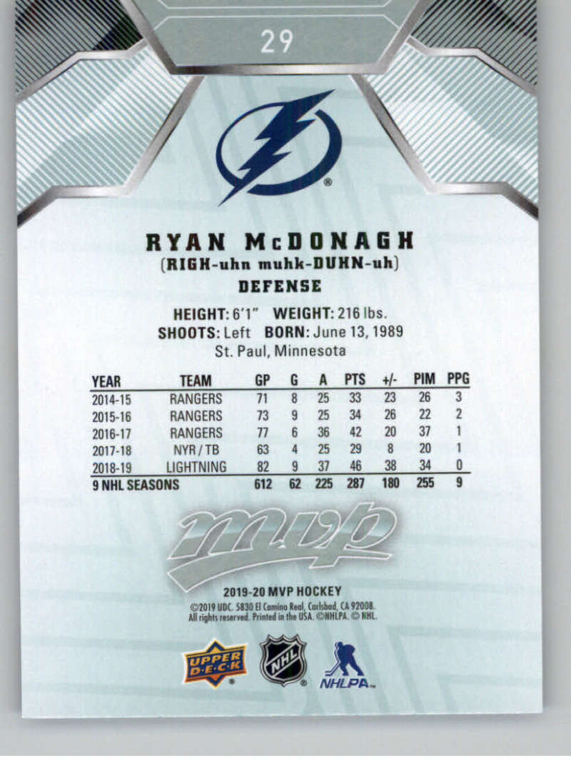 miniature 45 - 2019-20-Upper-Deck-MVP-NHL-Hockey-Cards-Pick-From-List-Base-SP-and-Rookies