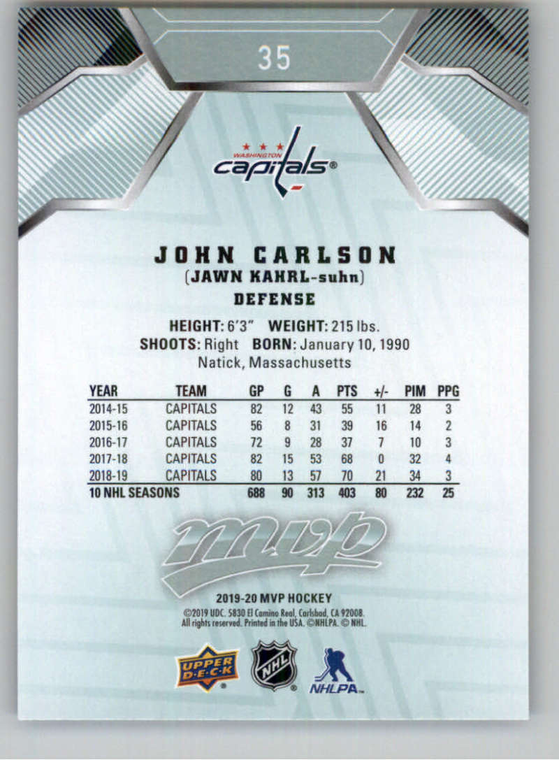 miniature 51 - 2019-20-Upper-Deck-MVP-NHL-Hockey-Cards-Pick-From-List-Base-SP-and-Rookies