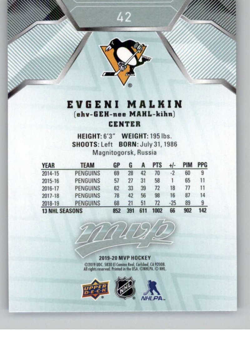 miniature 61 - 2019-20-Upper-Deck-MVP-NHL-Hockey-Cards-Pick-From-List-Base-SP-and-Rookies