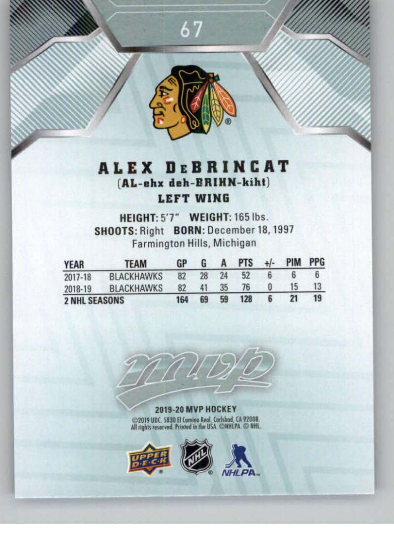 miniature 87 - 2019-20-Upper-Deck-MVP-NHL-Hockey-Cards-Pick-From-List-Base-SP-and-Rookies