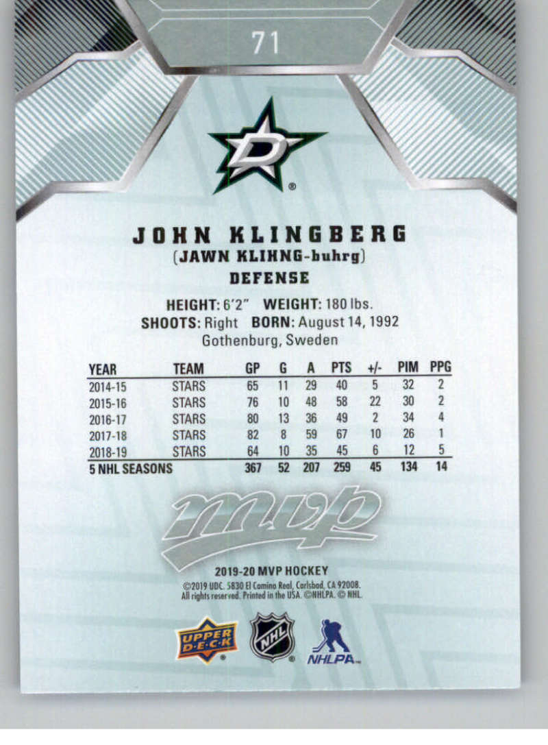 miniature 91 - 2019-20-Upper-Deck-MVP-NHL-Hockey-Cards-Pick-From-List-Base-SP-and-Rookies