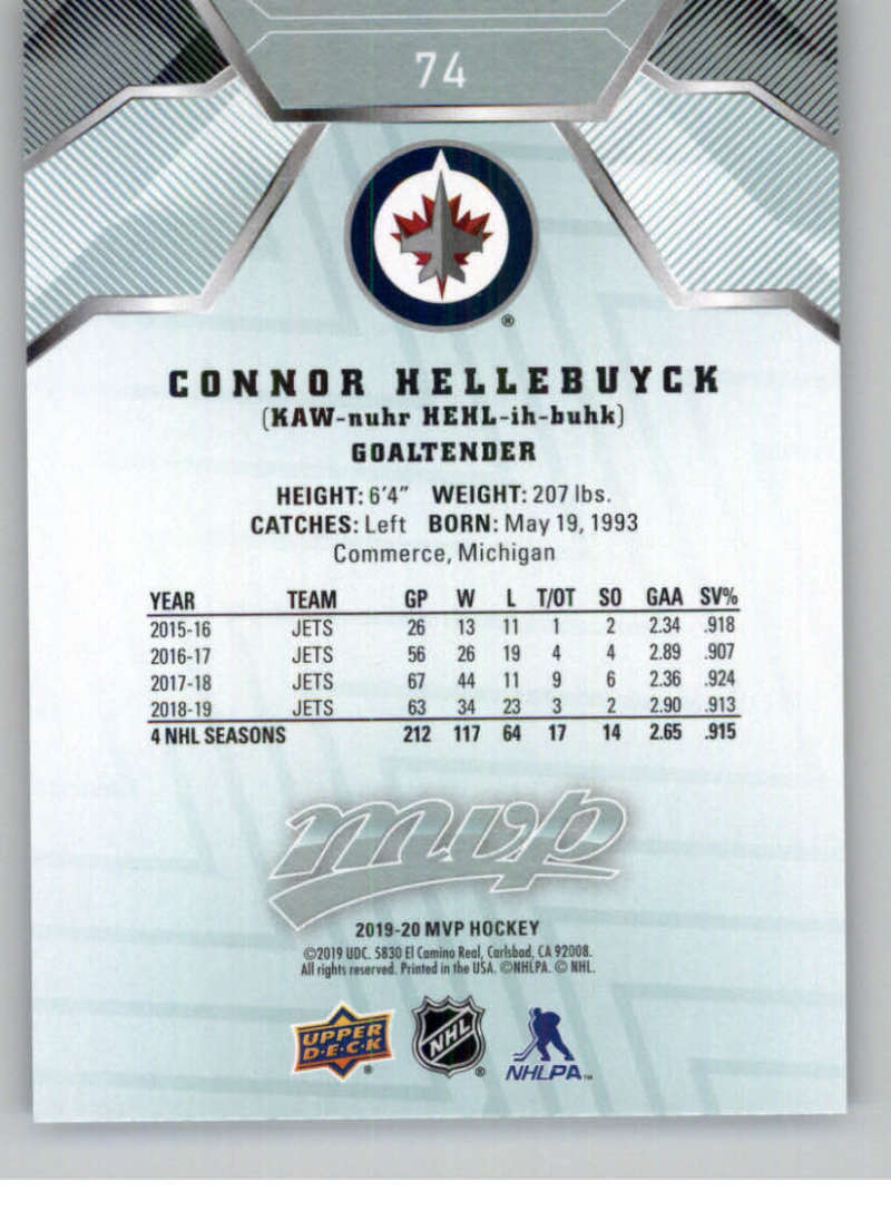 miniature 95 - 2019-20-Upper-Deck-MVP-NHL-Hockey-Cards-Pick-From-List-Base-SP-and-Rookies