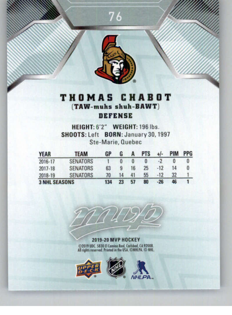 miniature 97 - 2019-20-Upper-Deck-MVP-NHL-Hockey-Cards-Pick-From-List-Base-SP-and-Rookies