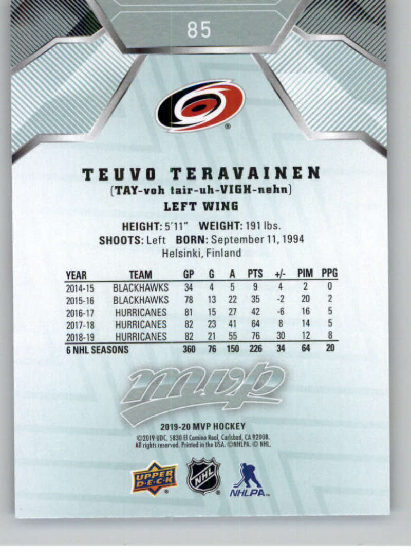 miniature 103 - 2019-20-Upper-Deck-MVP-NHL-Hockey-Cards-Pick-From-List-Base-SP-and-Rookies