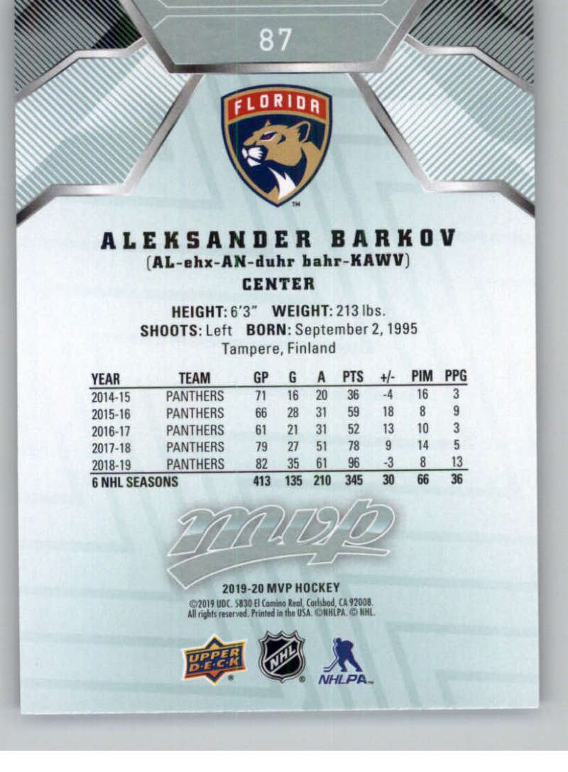 miniature 107 - 2019-20-Upper-Deck-MVP-NHL-Hockey-Cards-Pick-From-List-Base-SP-and-Rookies