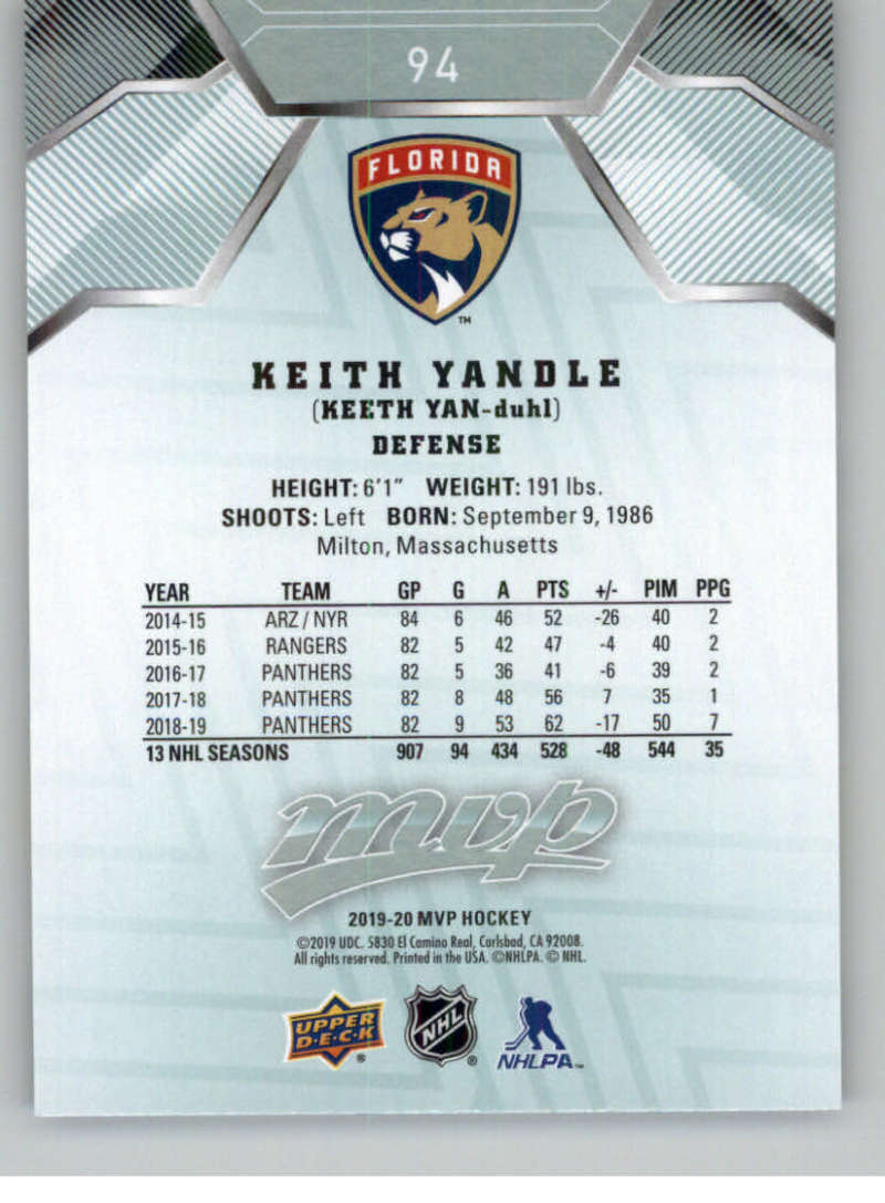 miniature 115 - 2019-20-Upper-Deck-MVP-NHL-Hockey-Cards-Pick-From-List-Base-SP-and-Rookies