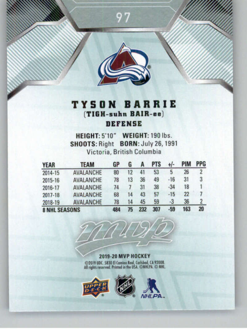miniature 119 - 2019-20-Upper-Deck-MVP-NHL-Hockey-Cards-Pick-From-List-Base-SP-and-Rookies