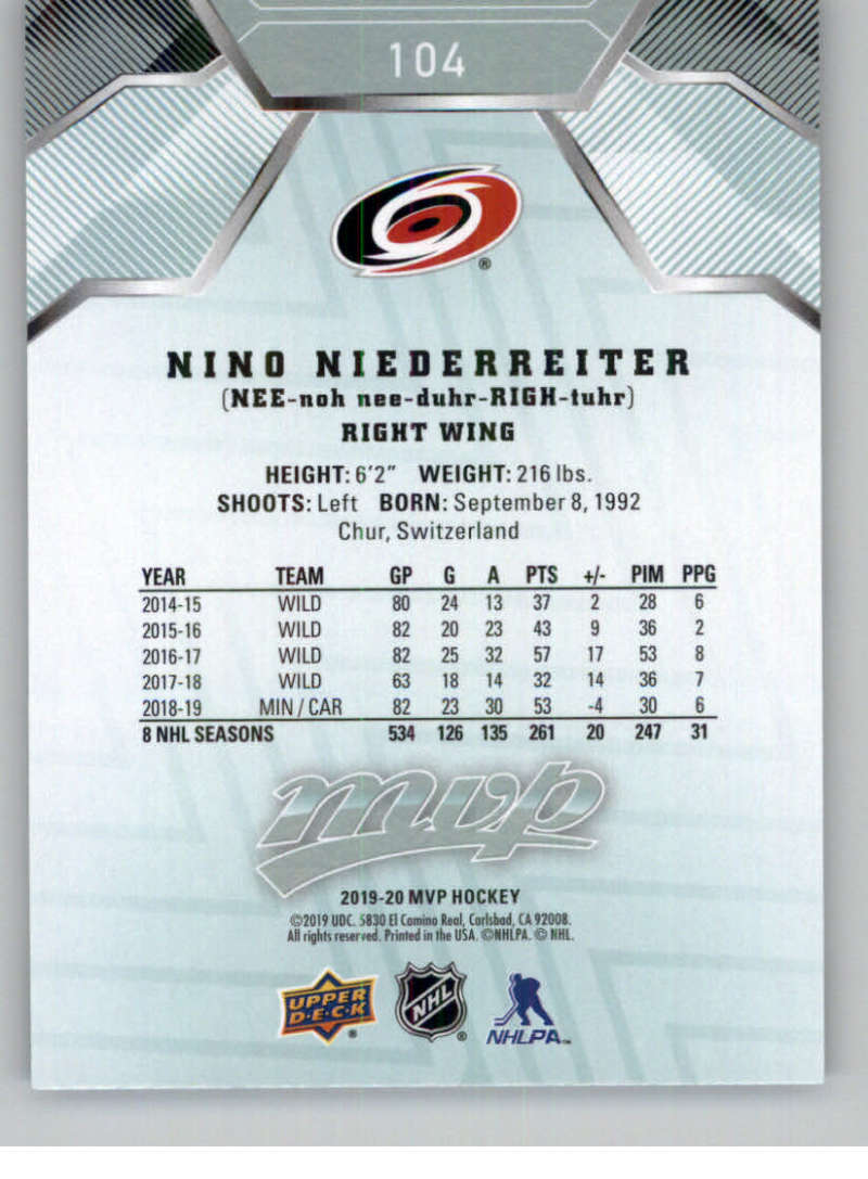 miniature 129 - 2019-20-Upper-Deck-MVP-NHL-Hockey-Cards-Pick-From-List-Base-SP-and-Rookies