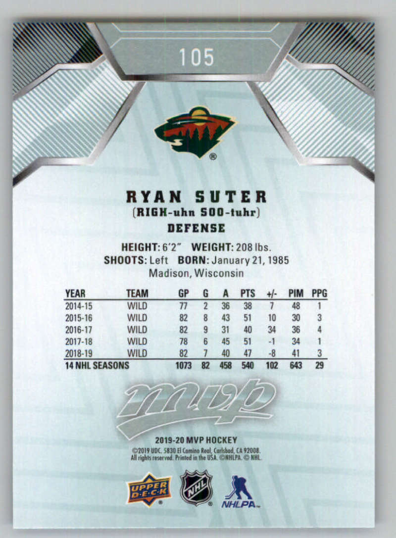 miniature 131 - 2019-20-Upper-Deck-MVP-NHL-Hockey-Cards-Pick-From-List-Base-SP-and-Rookies