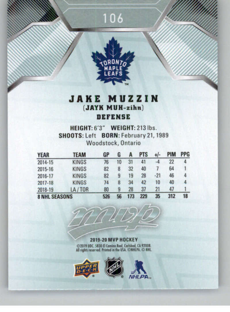 miniature 133 - 2019-20-Upper-Deck-MVP-NHL-Hockey-Cards-Pick-From-List-Base-SP-and-Rookies