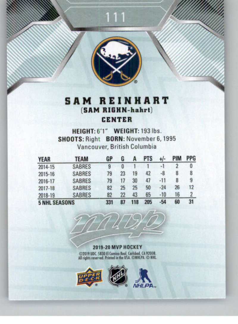 miniature 139 - 2019-20-Upper-Deck-MVP-NHL-Hockey-Cards-Pick-From-List-Base-SP-and-Rookies