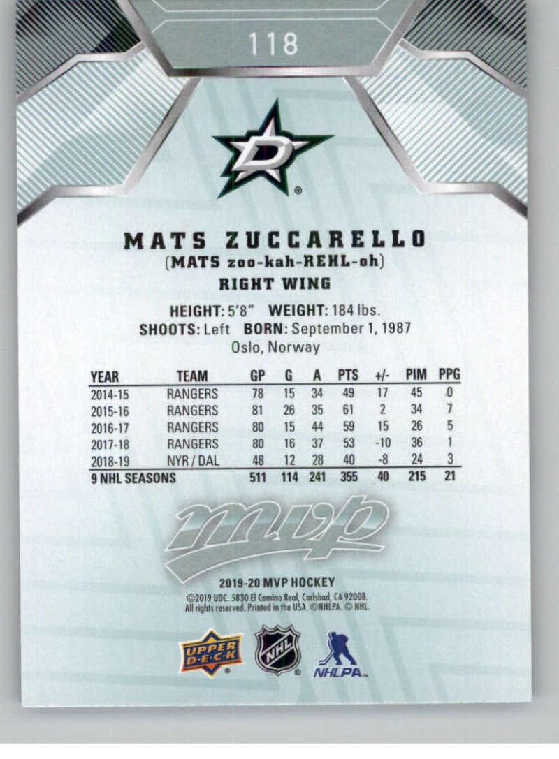 miniature 151 - 2019-20-Upper-Deck-MVP-NHL-Hockey-Cards-Pick-From-List-Base-SP-and-Rookies