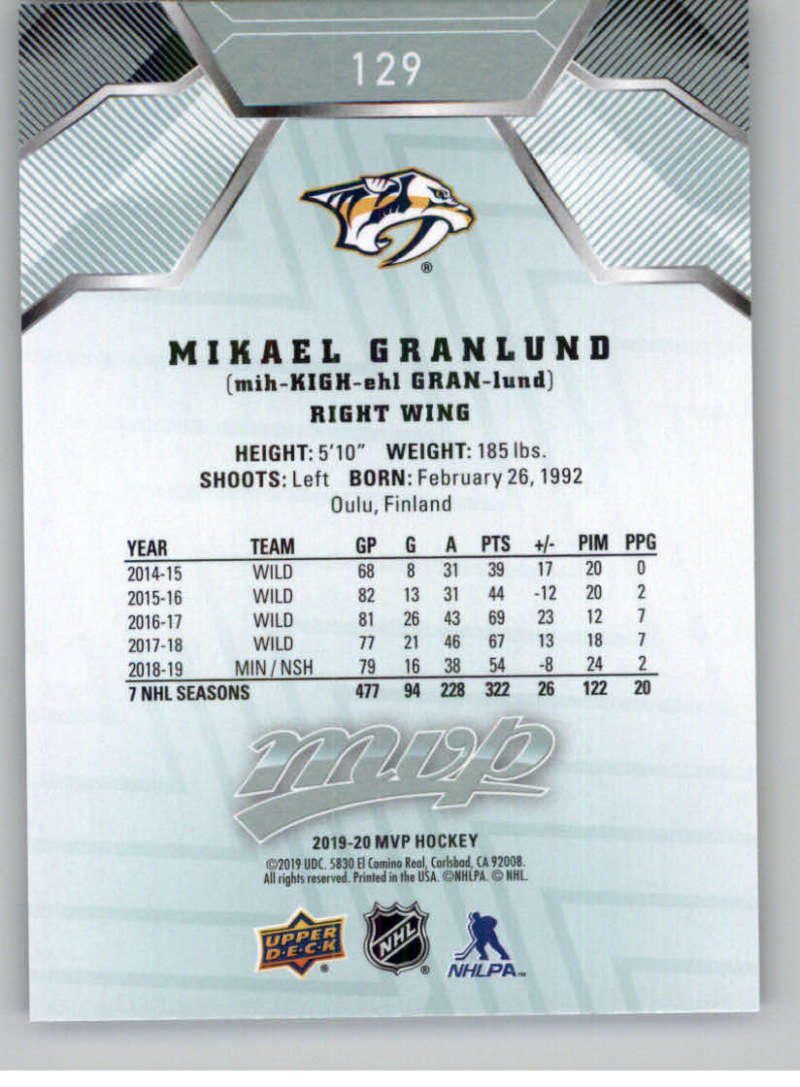 miniature 171 - 2019-20-Upper-Deck-MVP-NHL-Hockey-Cards-Pick-From-List-Base-SP-and-Rookies