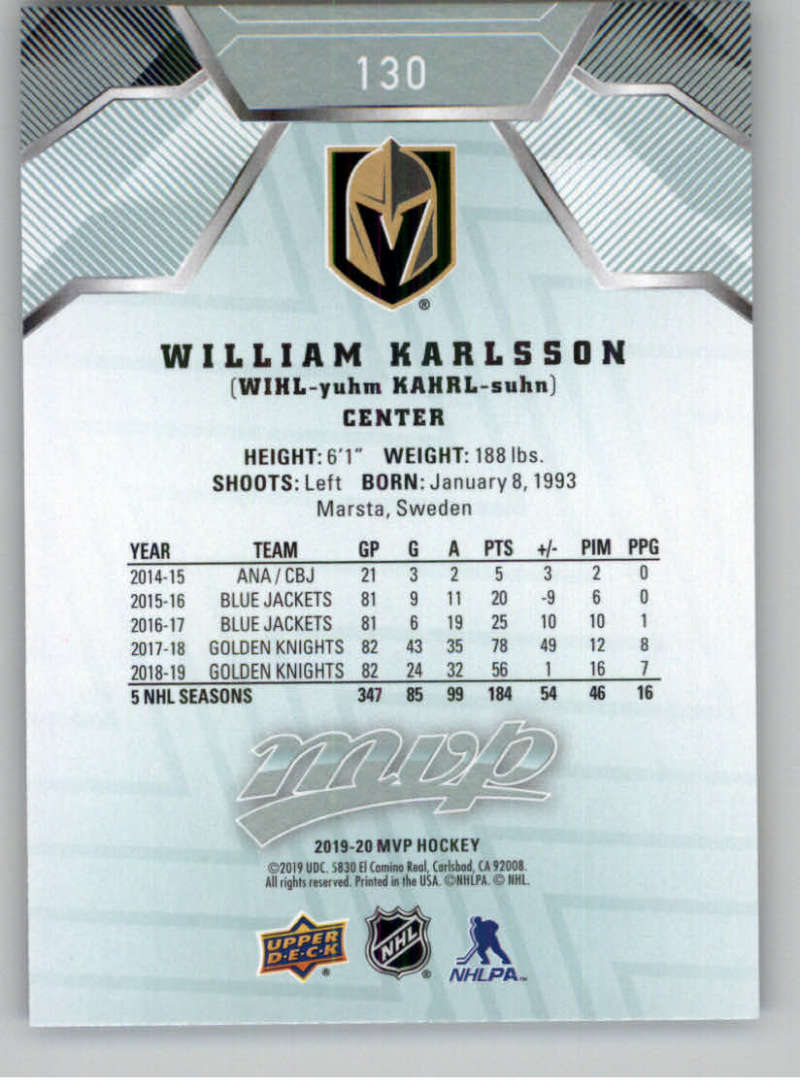 miniature 173 - 2019-20-Upper-Deck-MVP-NHL-Hockey-Cards-Pick-From-List-Base-SP-and-Rookies
