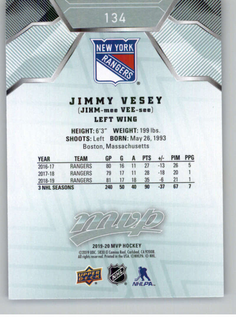 miniature 179 - 2019-20-Upper-Deck-MVP-NHL-Hockey-Cards-Pick-From-List-Base-SP-and-Rookies