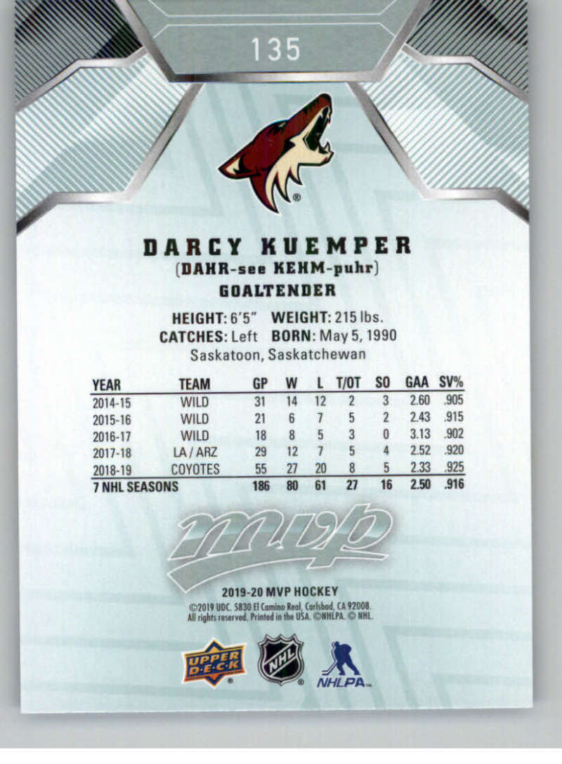 miniature 181 - 2019-20-Upper-Deck-MVP-NHL-Hockey-Cards-Pick-From-List-Base-SP-and-Rookies