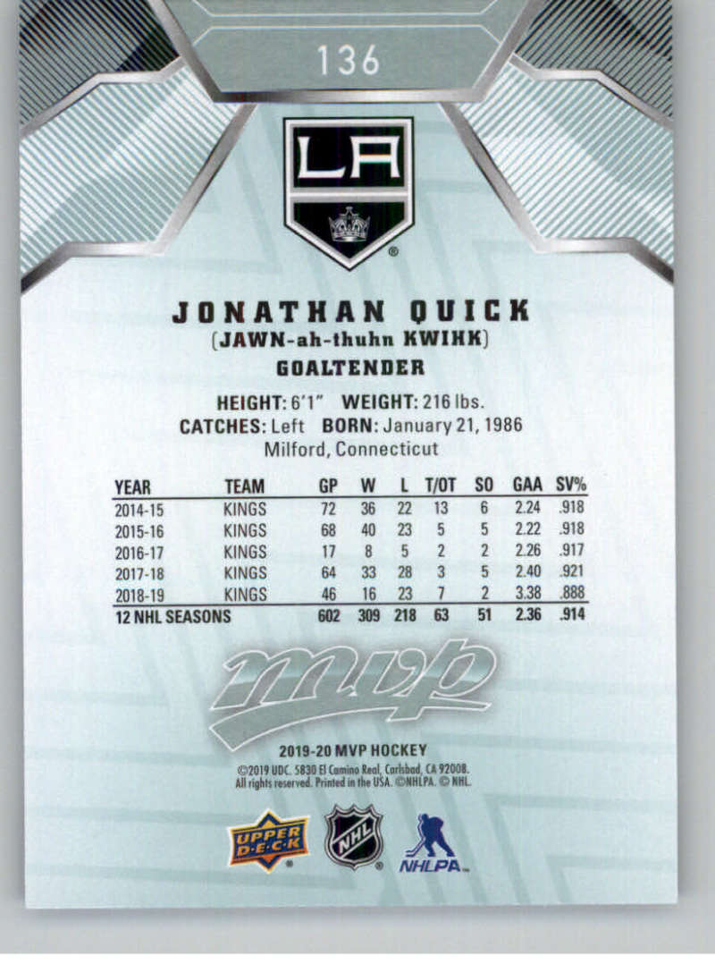 miniature 183 - 2019-20-Upper-Deck-MVP-NHL-Hockey-Cards-Pick-From-List-Base-SP-and-Rookies