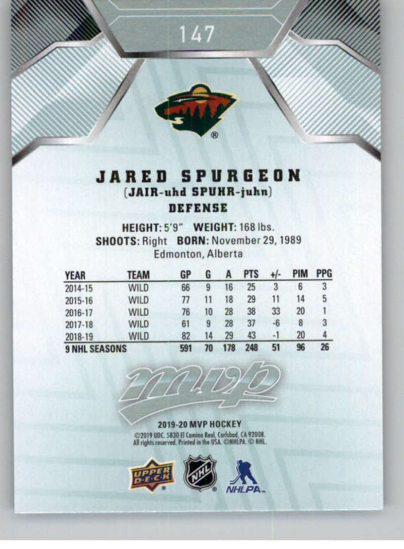 miniature 195 - 2019-20-Upper-Deck-MVP-NHL-Hockey-Cards-Pick-From-List-Base-SP-and-Rookies