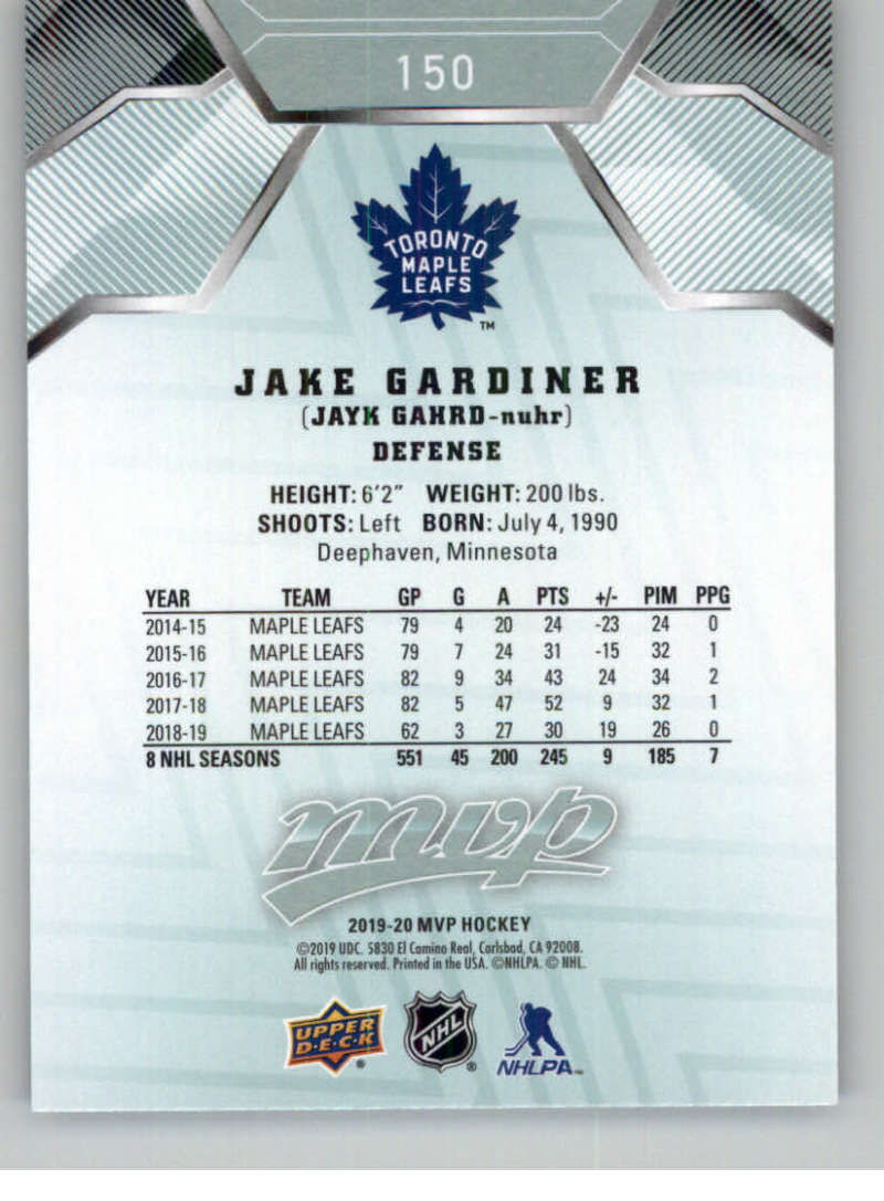 miniature 201 - 2019-20-Upper-Deck-MVP-NHL-Hockey-Cards-Pick-From-List-Base-SP-and-Rookies