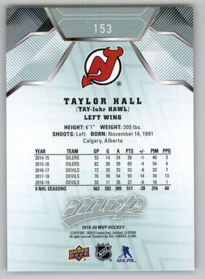 miniature 207 - 2019-20-Upper-Deck-MVP-NHL-Hockey-Cards-Pick-From-List-Base-SP-and-Rookies