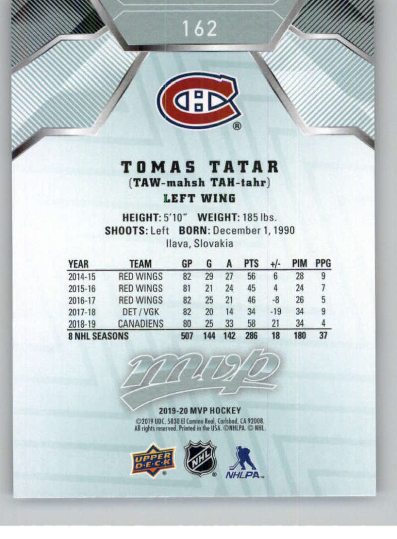 miniature 221 - 2019-20-Upper-Deck-MVP-NHL-Hockey-Cards-Pick-From-List-Base-SP-and-Rookies