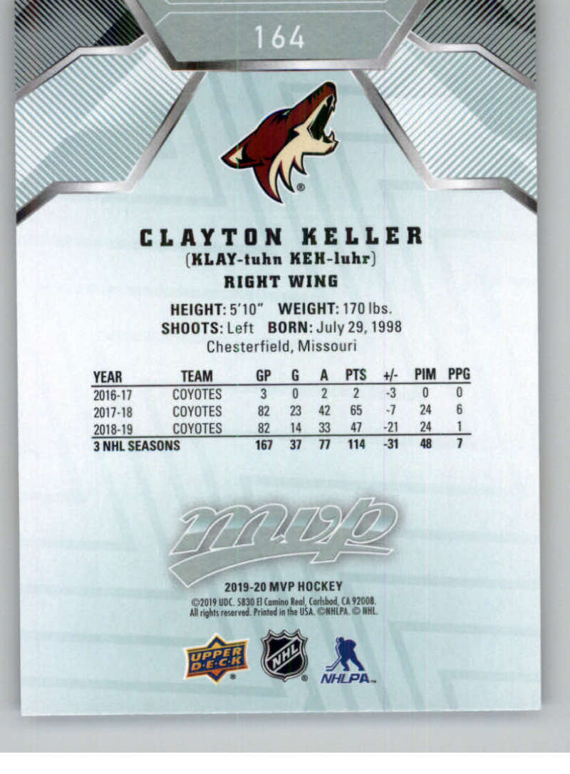 miniature 225 - 2019-20-Upper-Deck-MVP-NHL-Hockey-Cards-Pick-From-List-Base-SP-and-Rookies