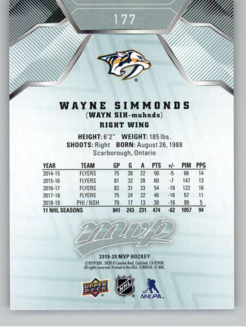 miniature 243 - 2019-20-Upper-Deck-MVP-NHL-Hockey-Cards-Pick-From-List-Base-SP-and-Rookies