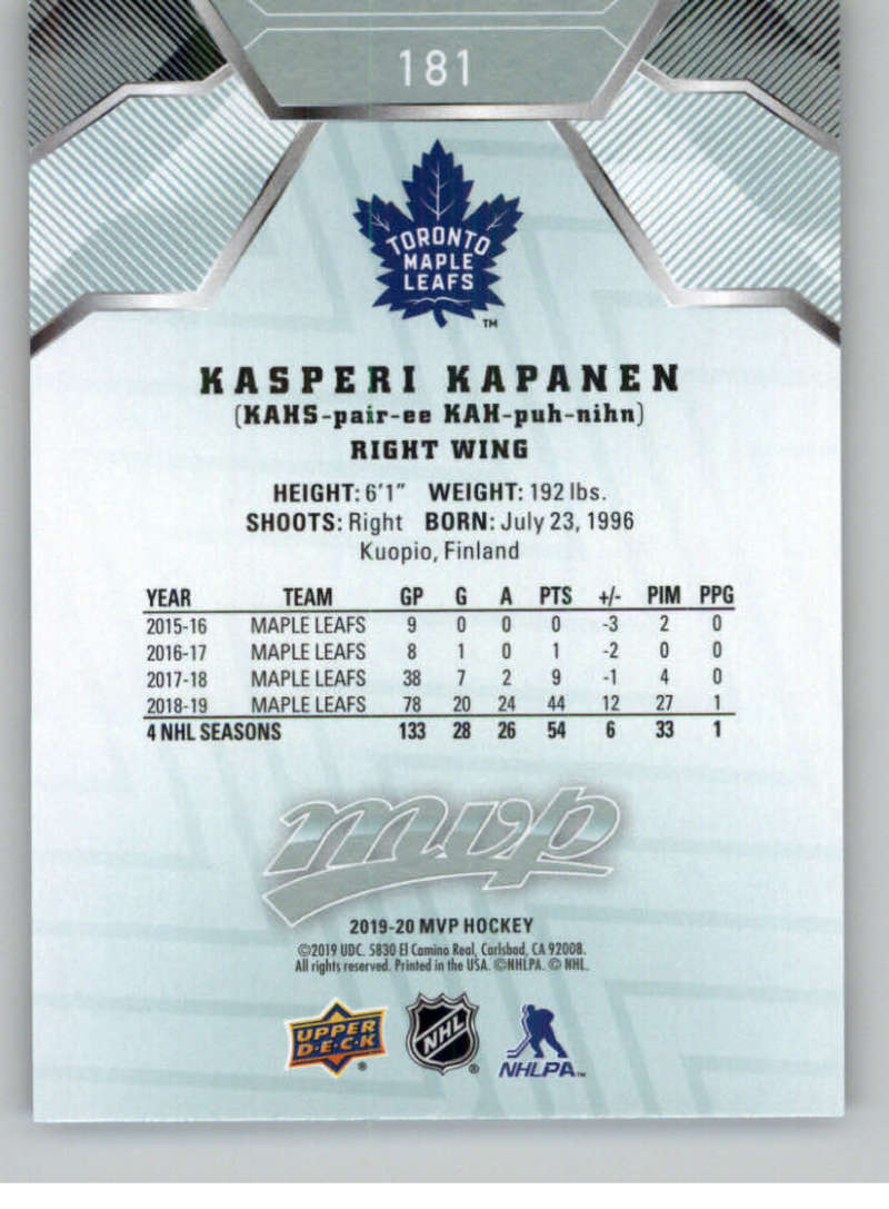 miniature 249 - 2019-20-Upper-Deck-MVP-NHL-Hockey-Cards-Pick-From-List-Base-SP-and-Rookies