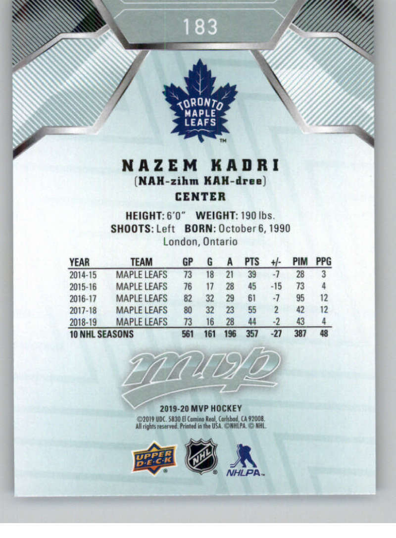 miniature 251 - 2019-20-Upper-Deck-MVP-NHL-Hockey-Cards-Pick-From-List-Base-SP-and-Rookies