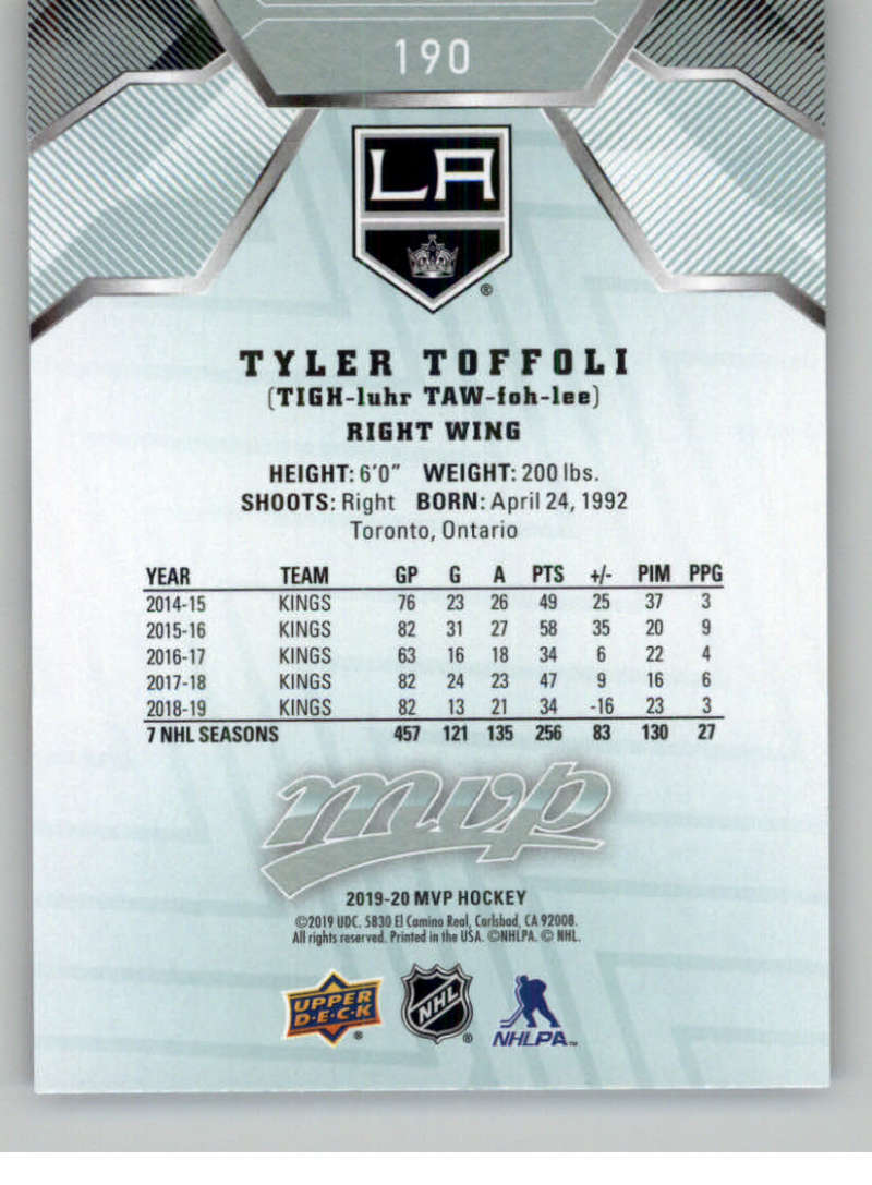 miniature 261 - 2019-20-Upper-Deck-MVP-NHL-Hockey-Cards-Pick-From-List-Base-SP-and-Rookies