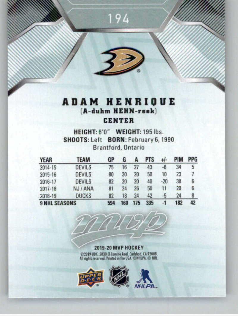 miniature 267 - 2019-20-Upper-Deck-MVP-NHL-Hockey-Cards-Pick-From-List-Base-SP-and-Rookies
