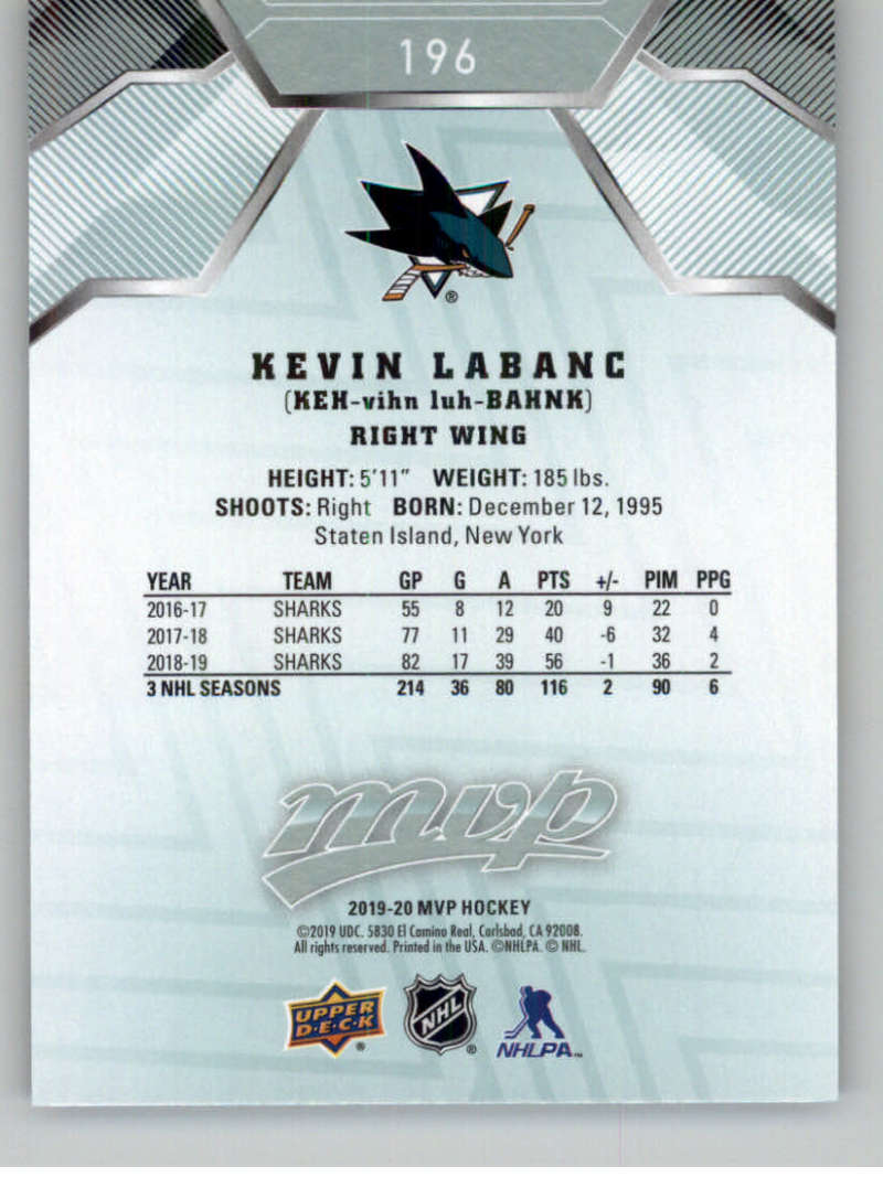miniature 269 - 2019-20-Upper-Deck-MVP-NHL-Hockey-Cards-Pick-From-List-Base-SP-and-Rookies