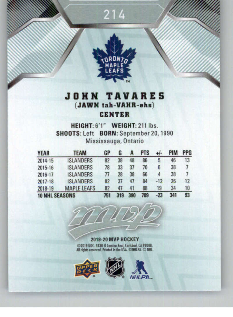 miniature 301 - 2019-20-Upper-Deck-MVP-NHL-Hockey-Cards-Pick-From-List-Base-SP-and-Rookies