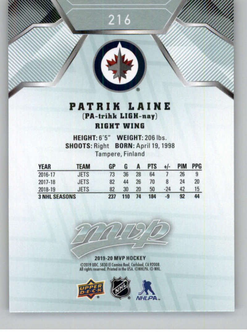 miniature 305 - 2019-20-Upper-Deck-MVP-NHL-Hockey-Cards-Pick-From-List-Base-SP-and-Rookies