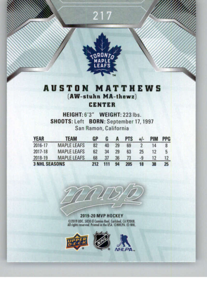 miniature 307 - 2019-20-Upper-Deck-MVP-NHL-Hockey-Cards-Pick-From-List-Base-SP-and-Rookies