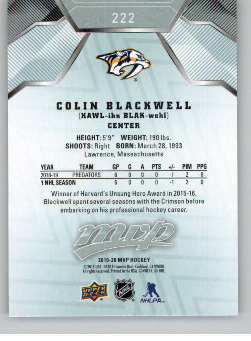 miniature 317 - 2019-20-Upper-Deck-MVP-NHL-Hockey-Cards-Pick-From-List-Base-SP-and-Rookies