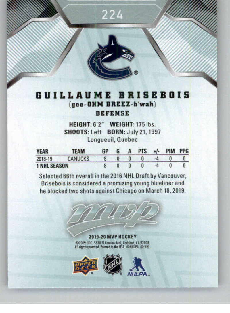 miniature 321 - 2019-20-Upper-Deck-MVP-NHL-Hockey-Cards-Pick-From-List-Base-SP-and-Rookies
