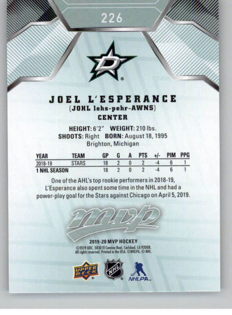 miniature 325 - 2019-20-Upper-Deck-MVP-NHL-Hockey-Cards-Pick-From-List-Base-SP-and-Rookies