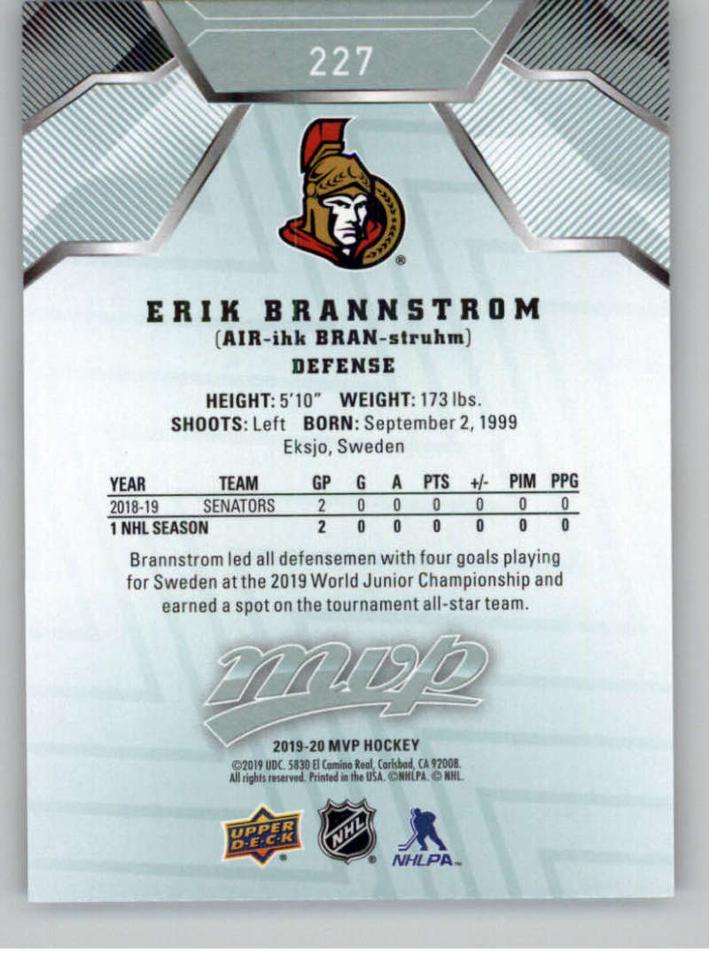 miniature 327 - 2019-20-Upper-Deck-MVP-NHL-Hockey-Cards-Pick-From-List-Base-SP-and-Rookies