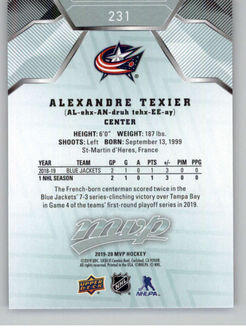 miniature 335 - 2019-20-Upper-Deck-MVP-NHL-Hockey-Cards-Pick-From-List-Base-SP-and-Rookies