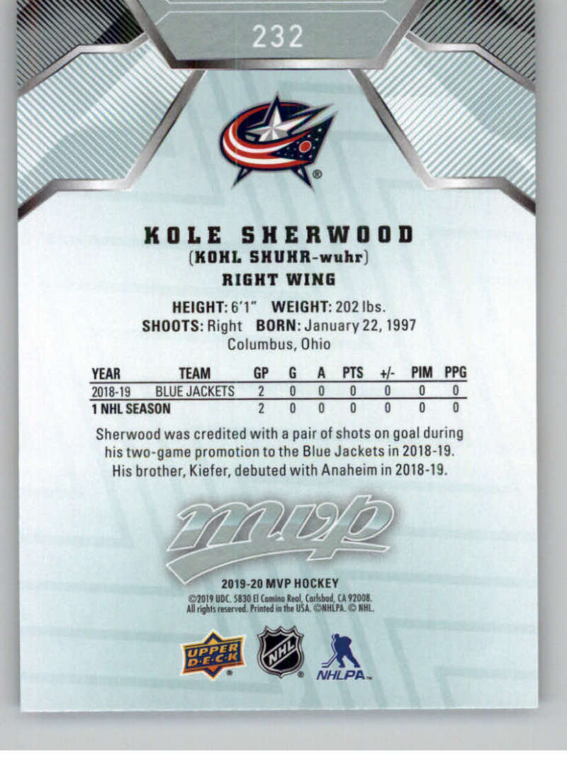 miniature 337 - 2019-20-Upper-Deck-MVP-NHL-Hockey-Cards-Pick-From-List-Base-SP-and-Rookies