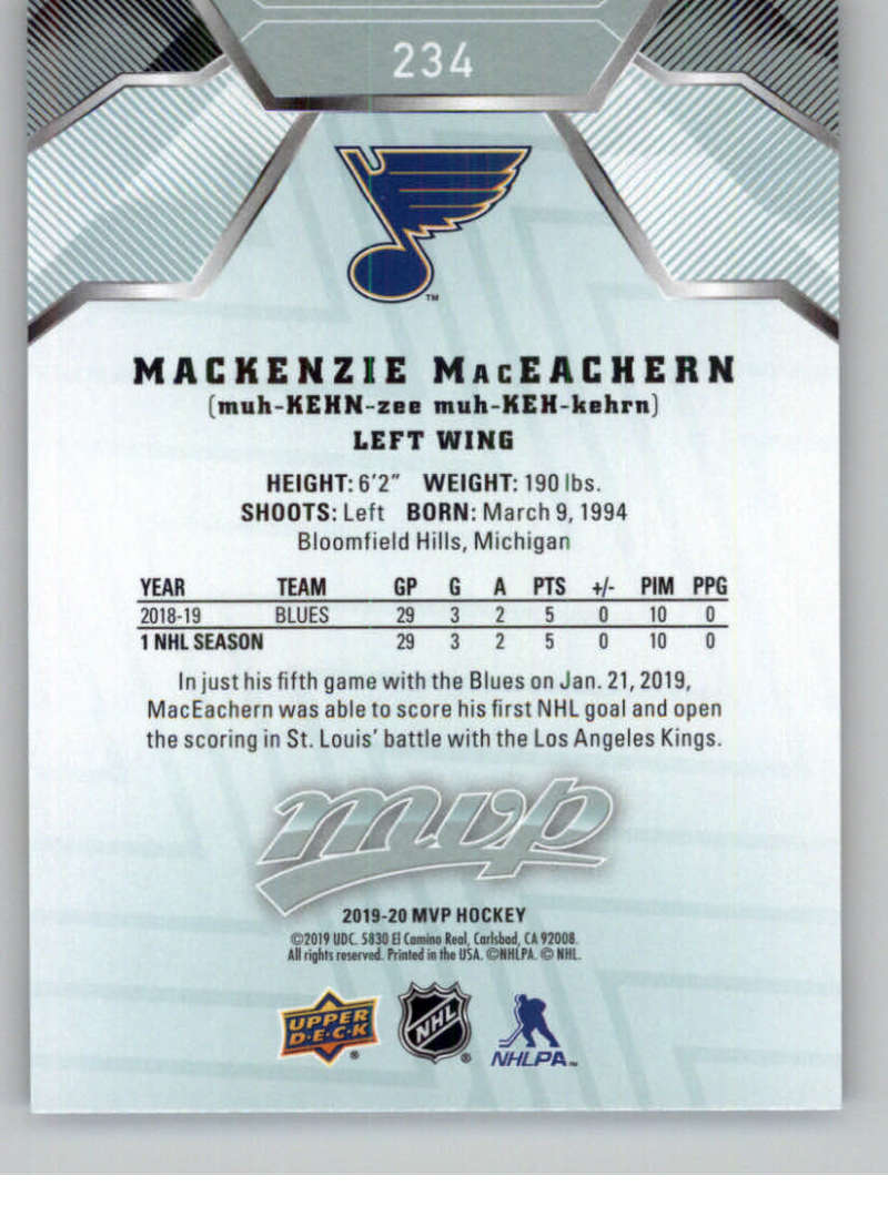 miniature 341 - 2019-20-Upper-Deck-MVP-NHL-Hockey-Cards-Pick-From-List-Base-SP-and-Rookies