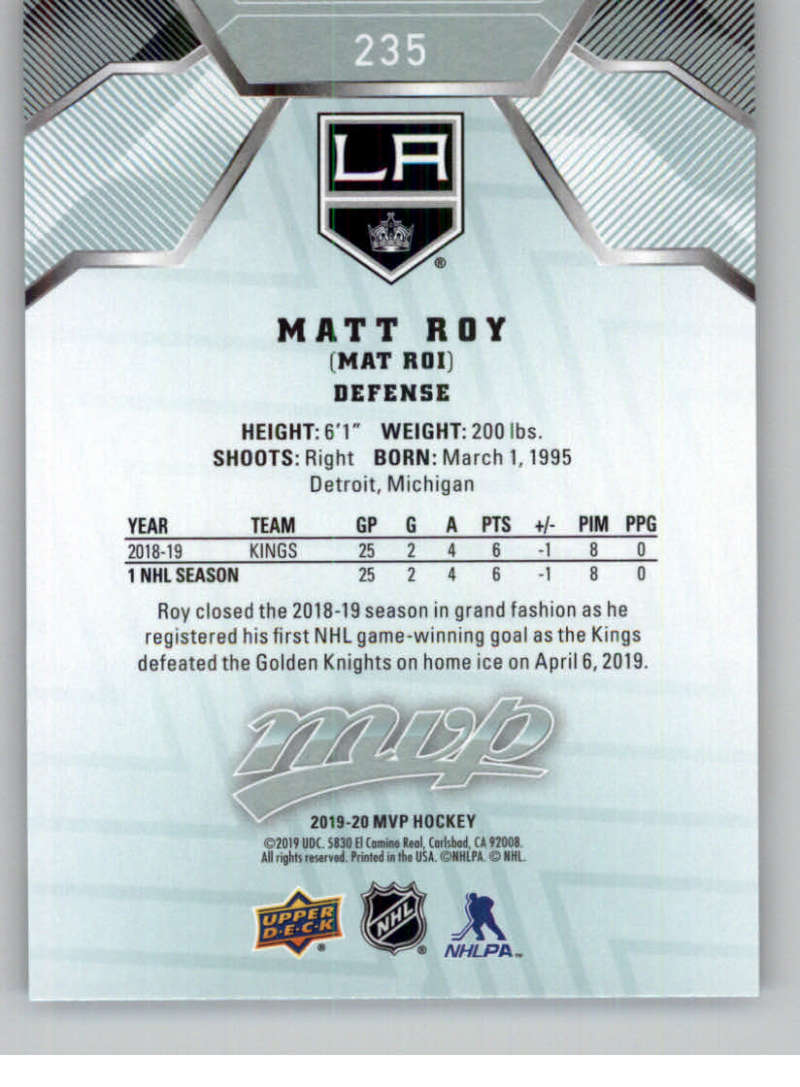 miniature 343 - 2019-20-Upper-Deck-MVP-NHL-Hockey-Cards-Pick-From-List-Base-SP-and-Rookies