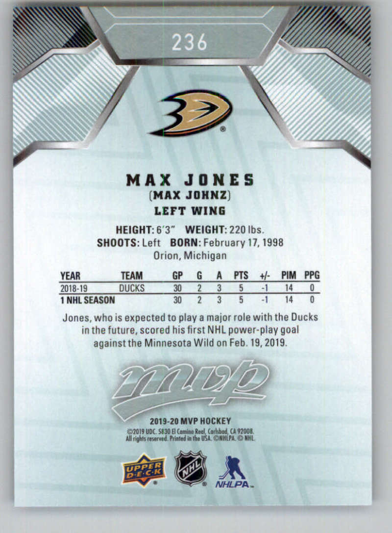 miniature 345 - 2019-20-Upper-Deck-MVP-NHL-Hockey-Cards-Pick-From-List-Base-SP-and-Rookies
