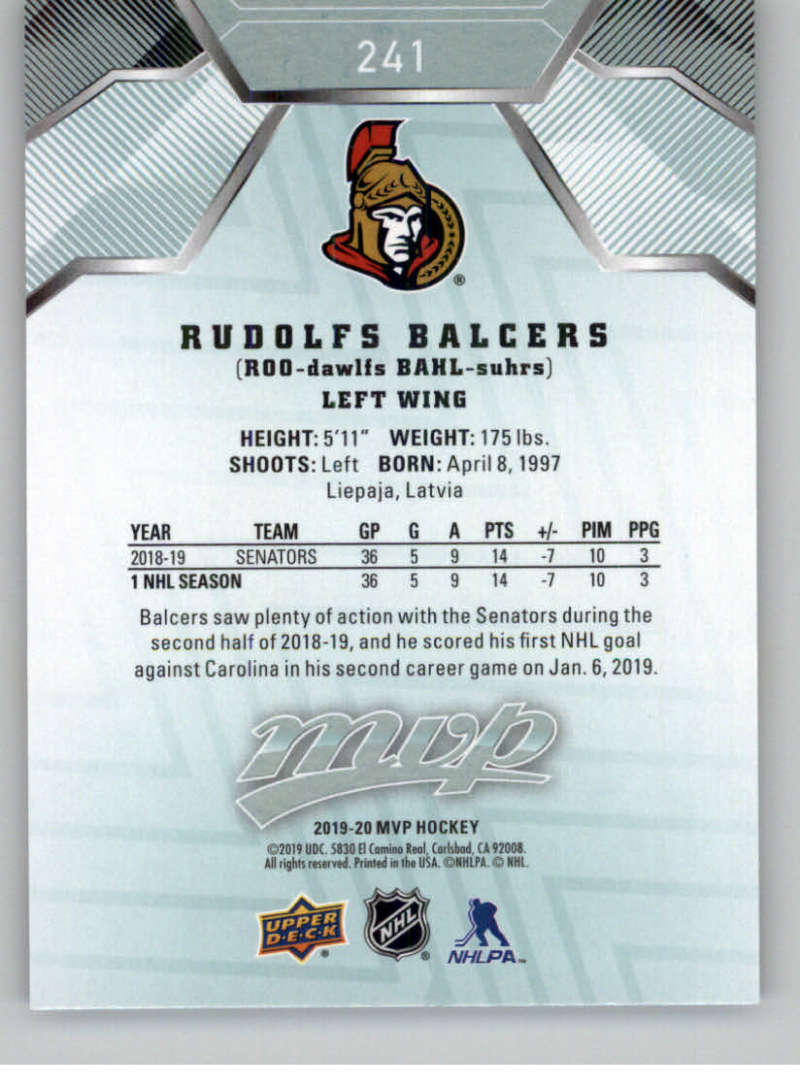 miniature 355 - 2019-20-Upper-Deck-MVP-NHL-Hockey-Cards-Pick-From-List-Base-SP-and-Rookies